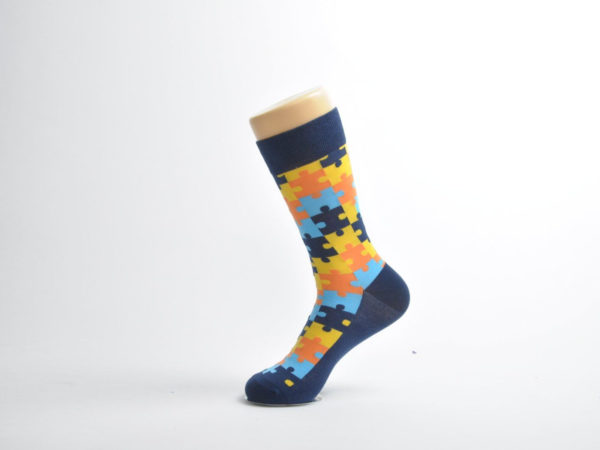colourful puzzled socks men
