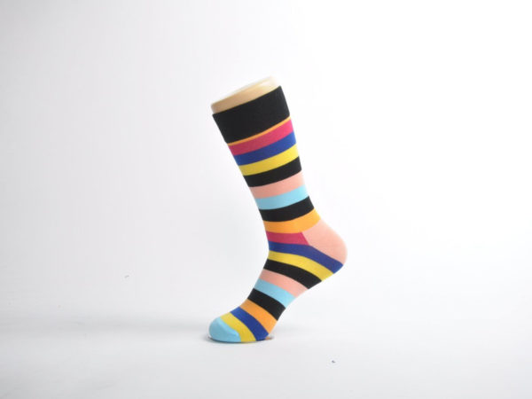 colourful striped socks