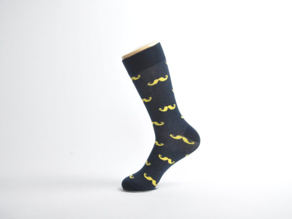 mens moustache socks