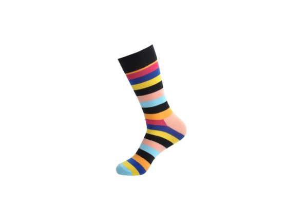 colourful stripes socks men