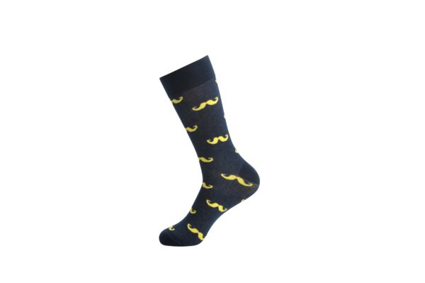 funky moustache socks men