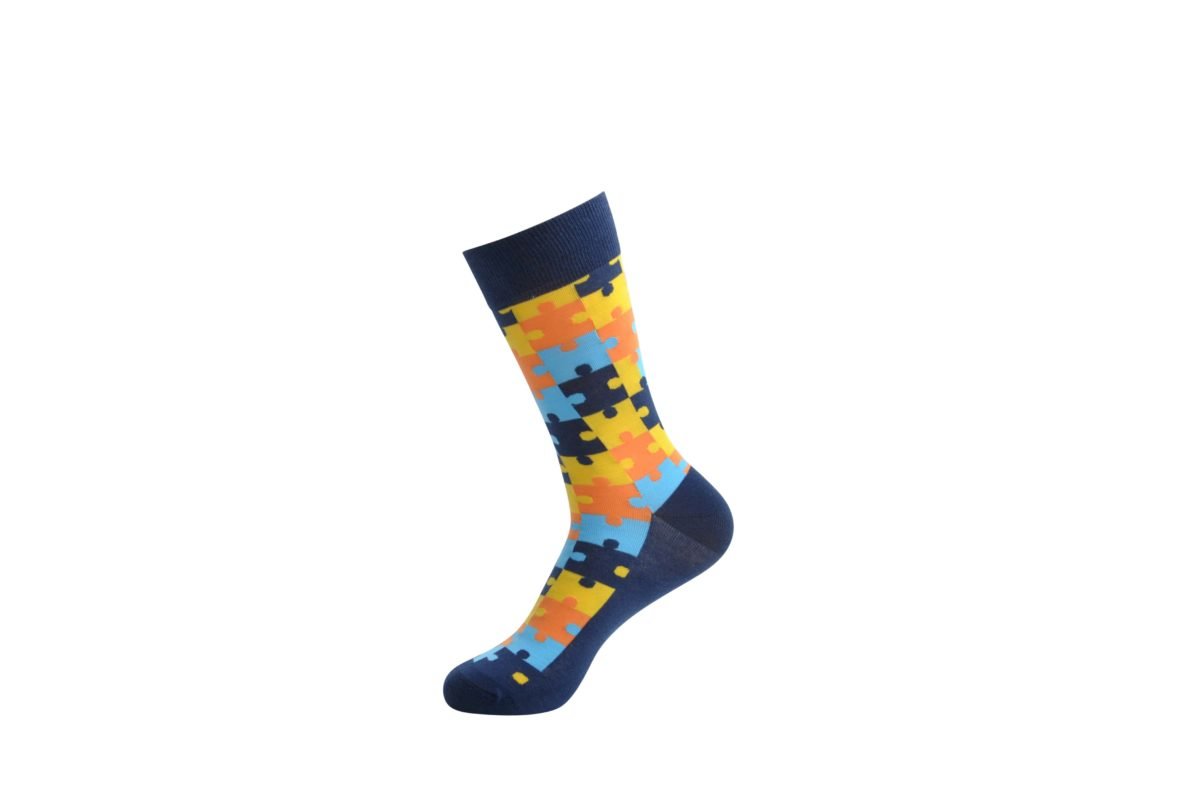 quirky men's bamboo cotton socks
