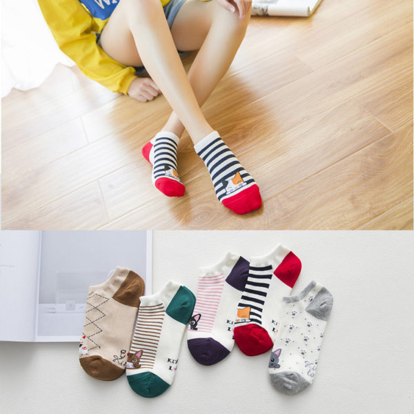 kitty ankle socks women