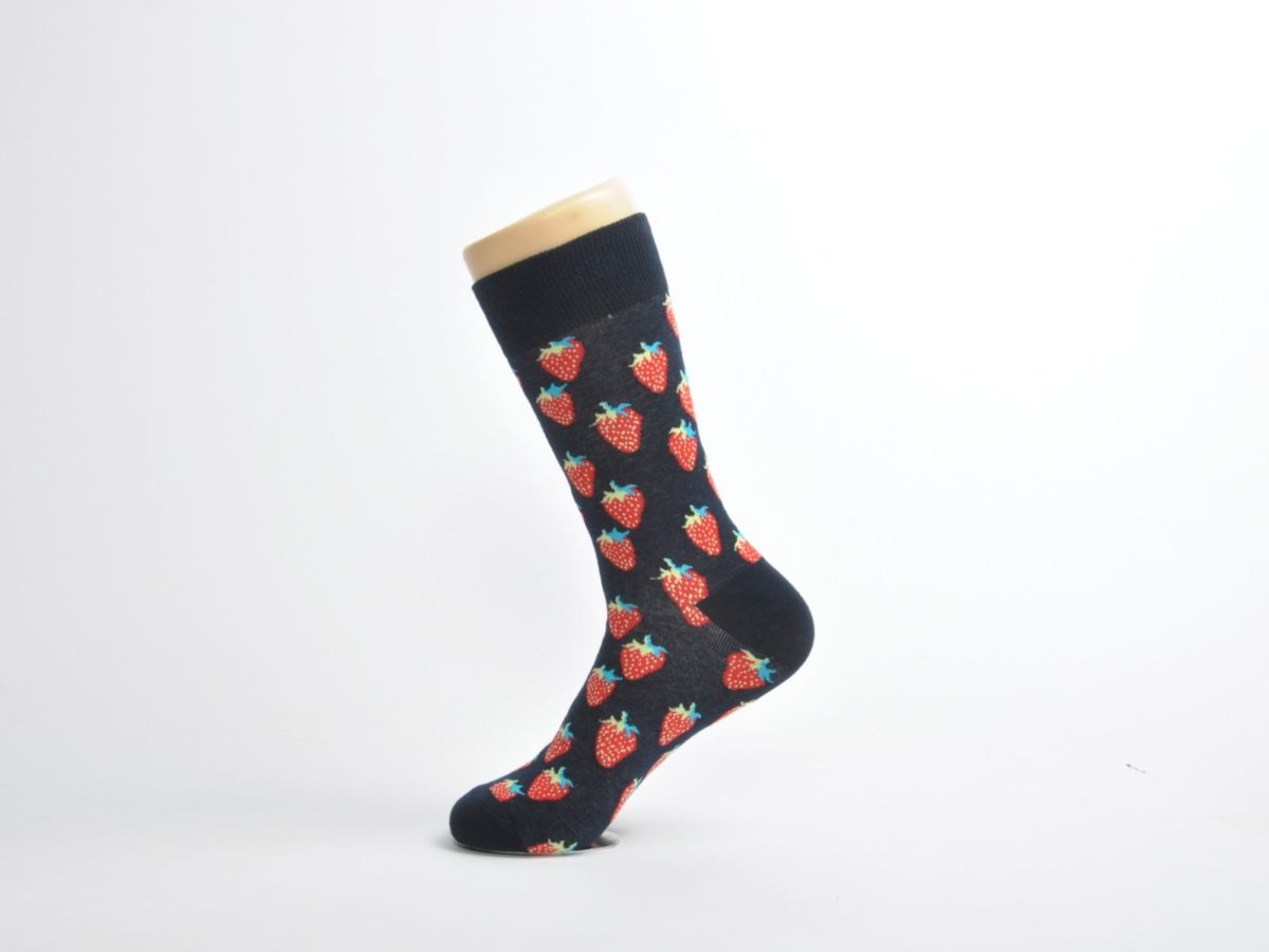 funky strawberry socks