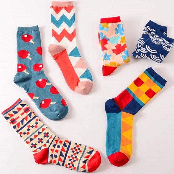 mens funky and colorful socks