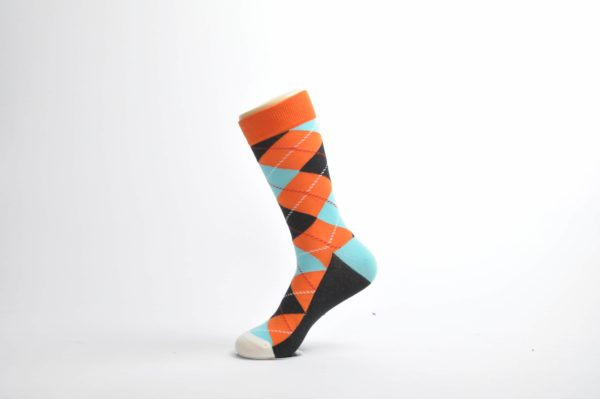 colorful argyle socks