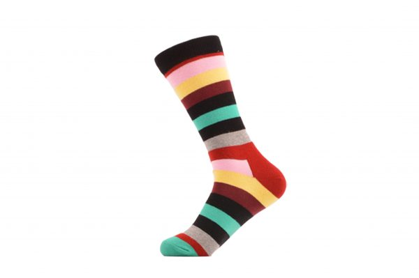colorful striped socks