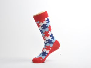 funky puzzled socks