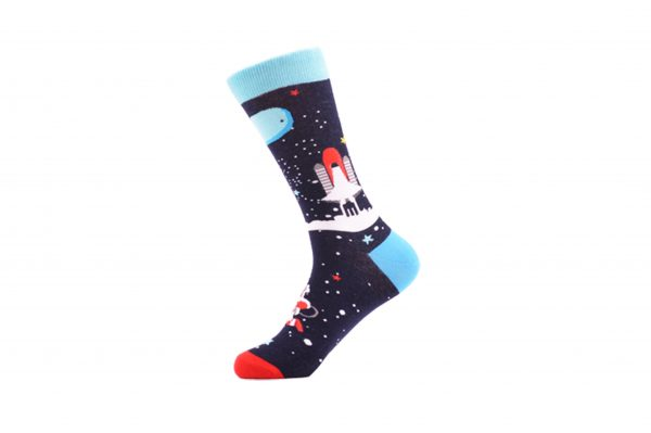 outer space theme socks