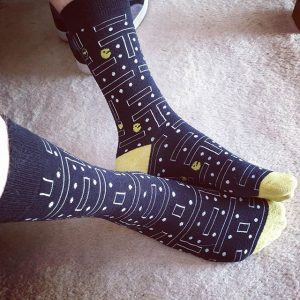 pacman themed socks