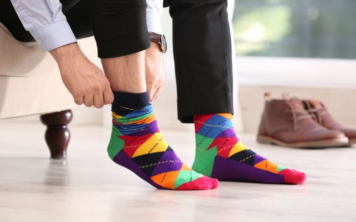 fun argyle socks