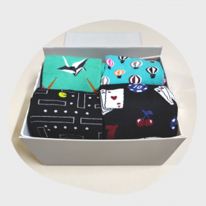 statement socks box